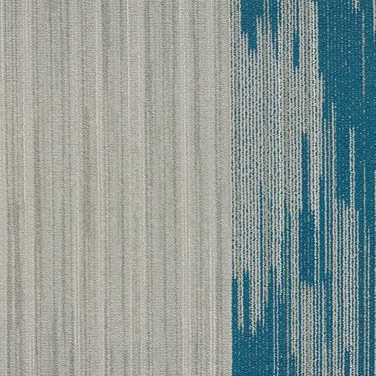 """Shaw Vertical Edge Carpet Tile Blue Limit 18"""" x 36"""" Builder(45 sq ft/ctn)"""