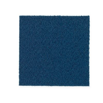 """Aladdin Commercial Color Pop Carpet Tile Indigo Batik 12"""" x 36"""" Premium"""