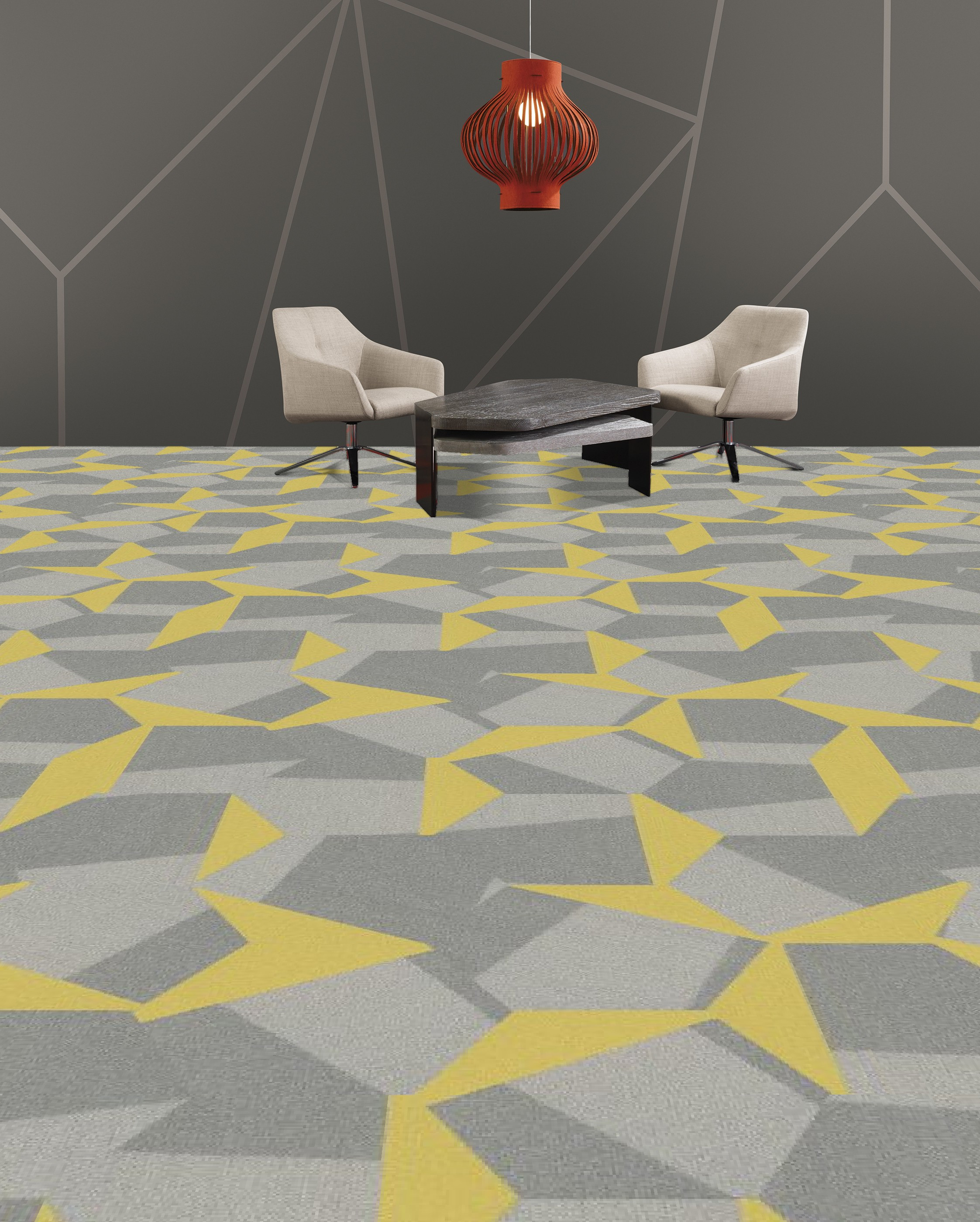 Shaw Contact Hexagon Carpet Tile Sublime Scale Room Scene