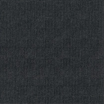 "Infinity Crochet Accent Rib Peel & Stick Carpet Tile Black Ice 24"" x 24"" Premium (60 sq ft/ctn)"