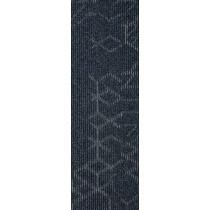 """Mohawk Group Angled Perception Carpet Tile Indigo Ink 12"""" x 36"""""""