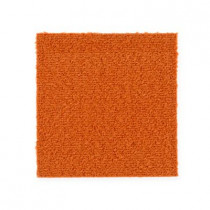 "Aladdin Commercial Color Pop Carpet Tile Electric Orange 12"" x 36"" Premium"