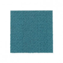 "Aladdin Commercial Color Pop Carpet Tile Kingfisher 12"" x 36"" Premium"