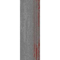 "Mohawk Group Disruptive Path Carpet Tile Orange Crush 12"" x 36"""