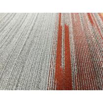 "Shaw Vertical Edge Carpet Tile Pumpkin Spice 18"" x 36"" Premium(45 sq ft/ctn)"