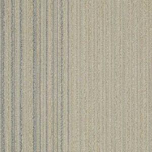 Shaw Linear Shift Hexagon Carpet Tile Pewter Ivory